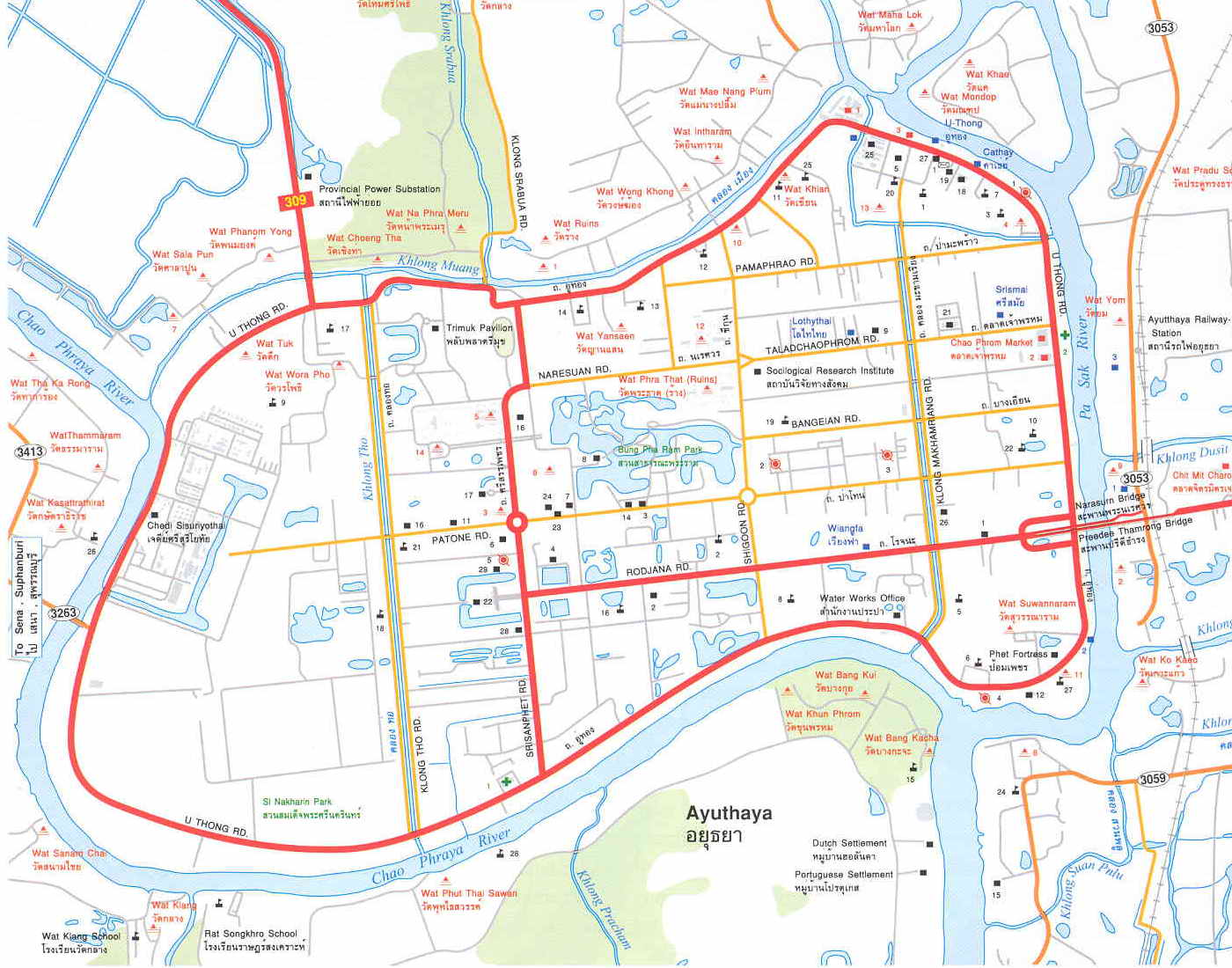 Ayutthaya Maps