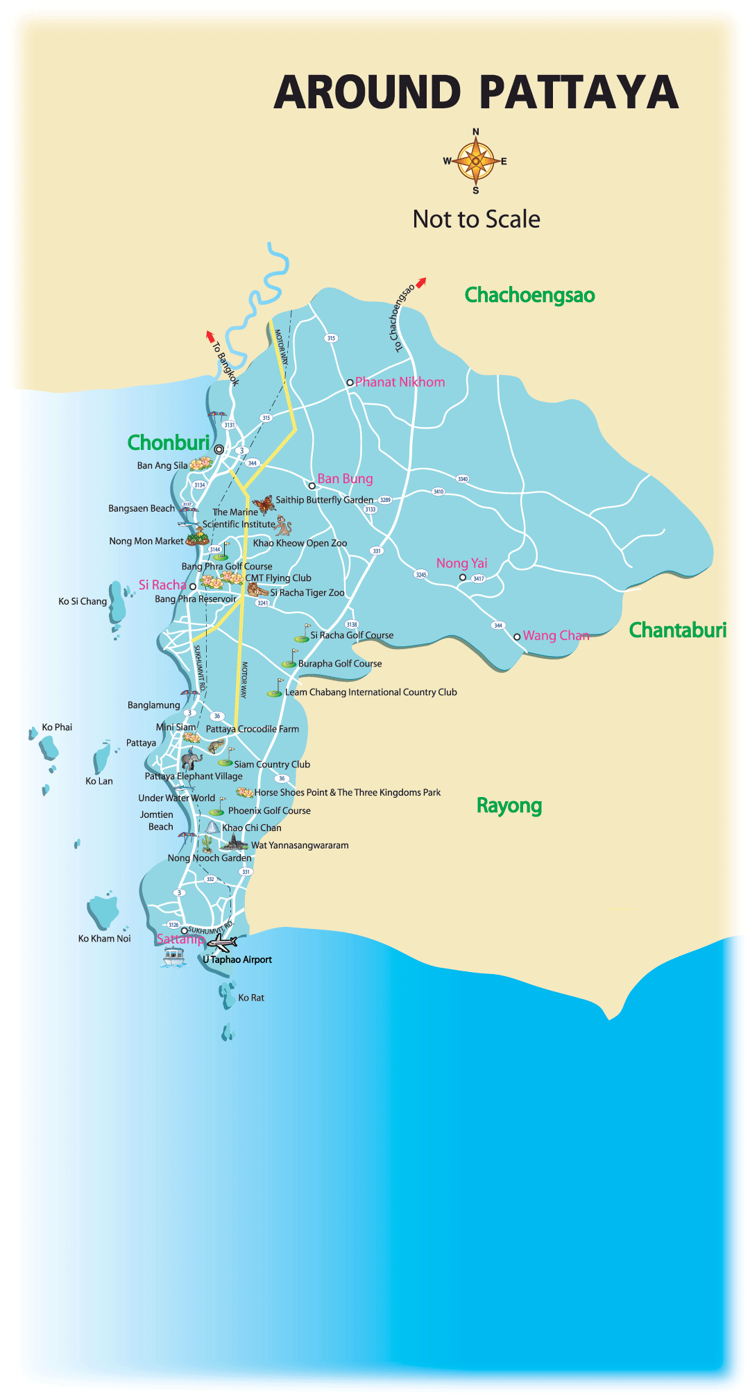 Chonburi maps