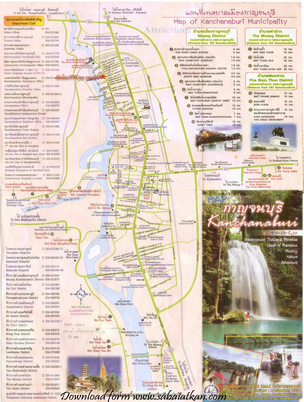 Kanchanaburii maps