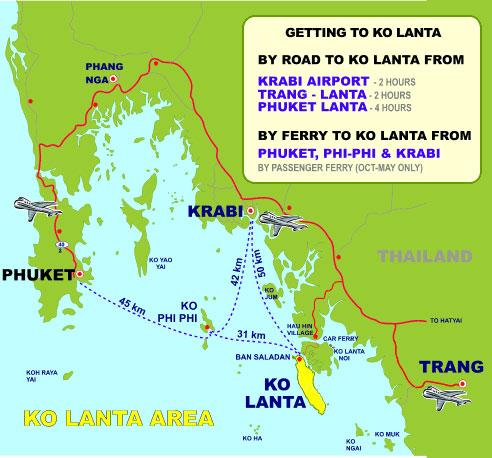 Krabi maps