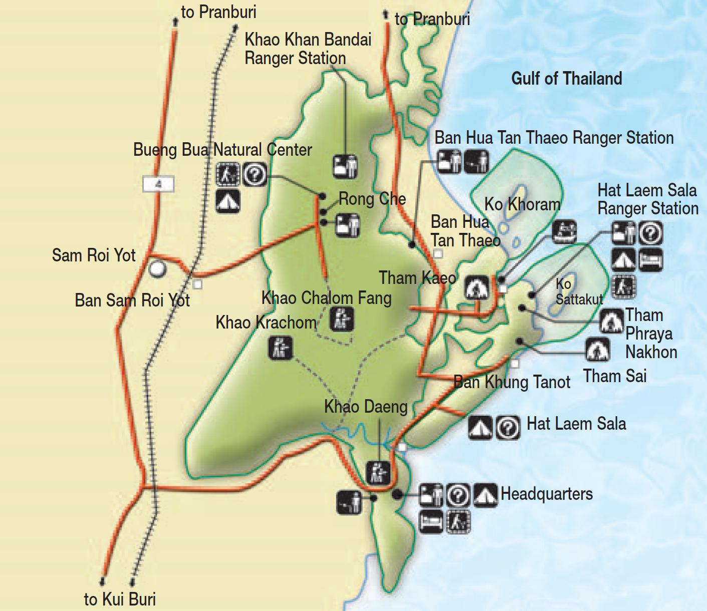 Prachuab Khiri Khan maps